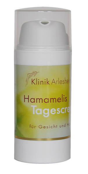 Eine Flasche Hamamelis Tagescreme für Gesicht und Hände