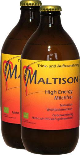 Eine Flasche Maltison High Energy – natürlich, wohlbekömmlich