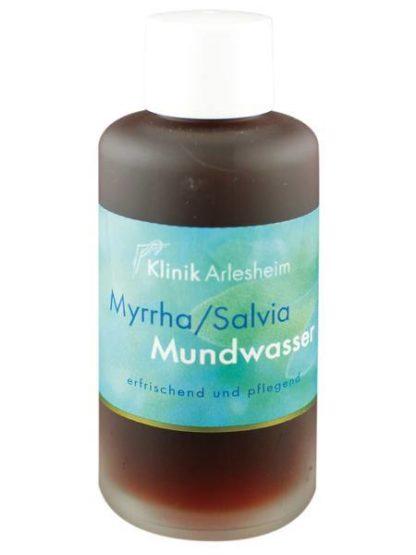 Eine Flasche Myrrha/Salvia Mundwasser wirkt erfrischend und pflegend