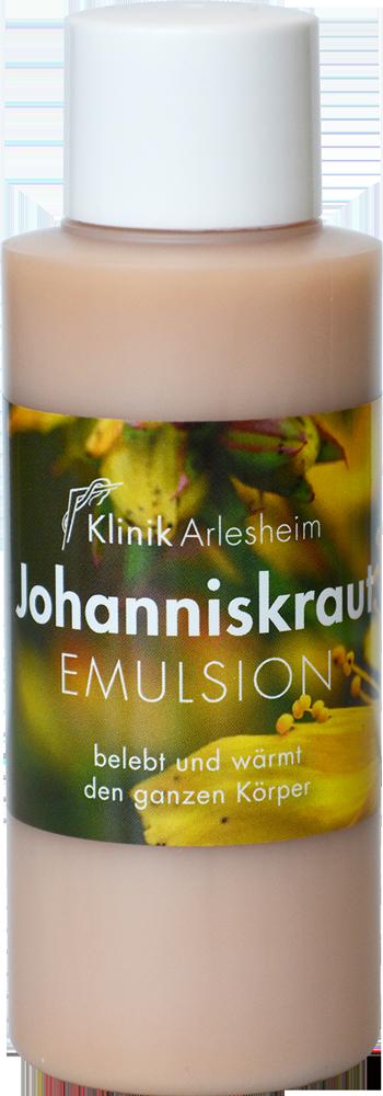 Eine Flasche Johanniskraut Emulsion belebt und wärmt den ganzen Körper